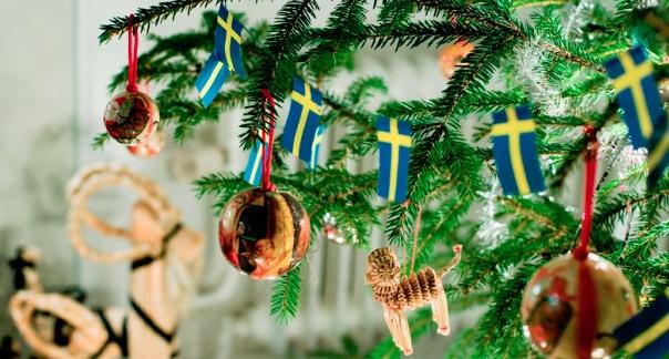 Флаг Швеции на ёлке